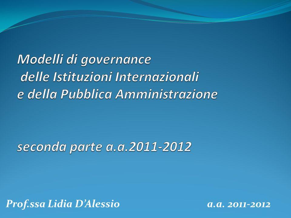 Prof.ssa Lidia DAlessio a.a. 2011-2012