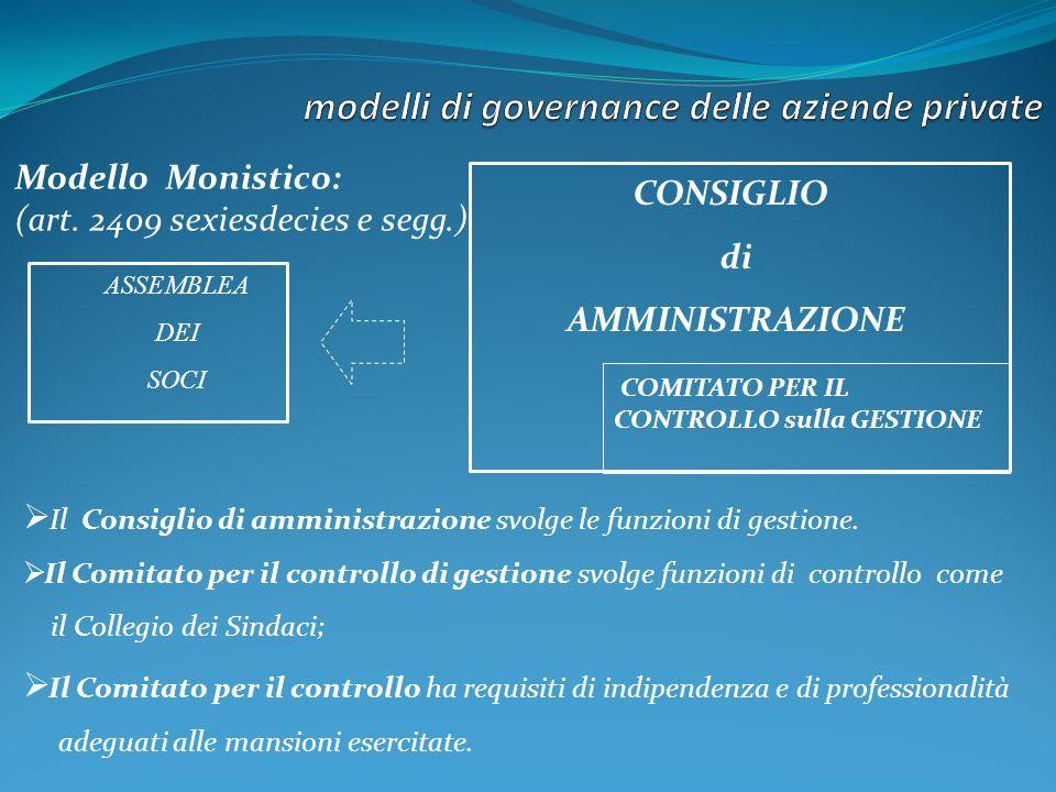Modello Monistico: (art.