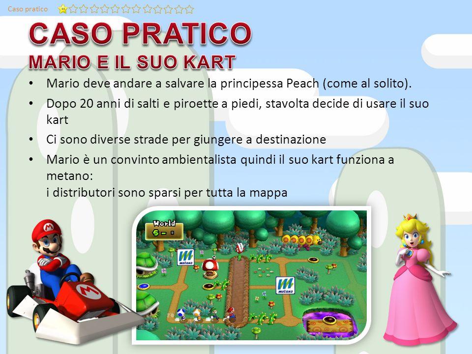 Caso pratico Mario deve andare a salvare la principessa Peach (come al solito).