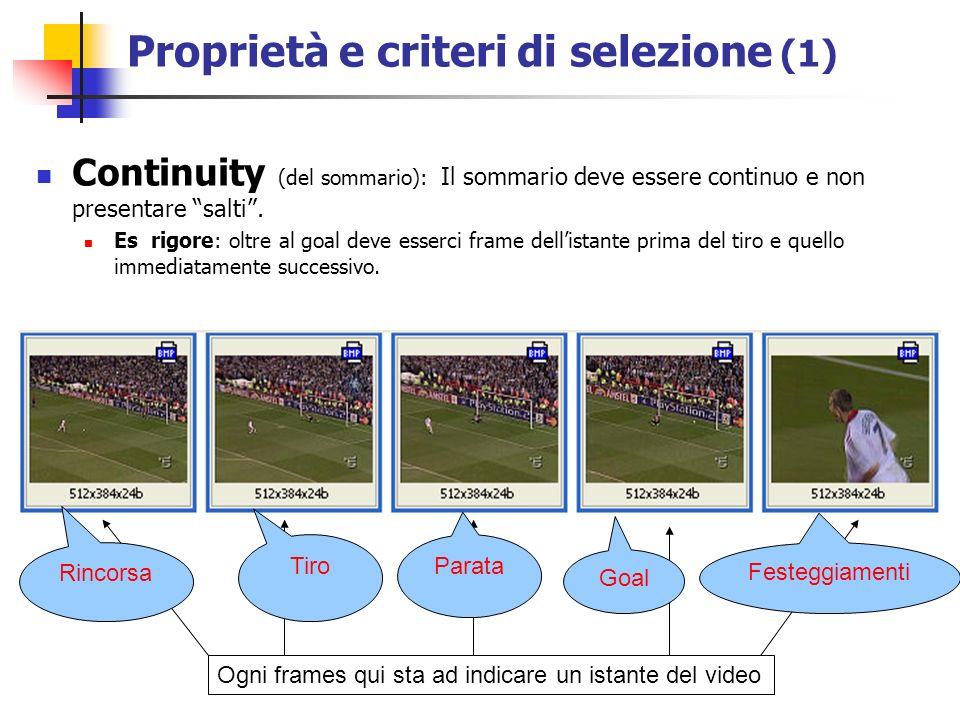 Continuity (del sommario): Il sommario deve essere continuo e non presentare salti.