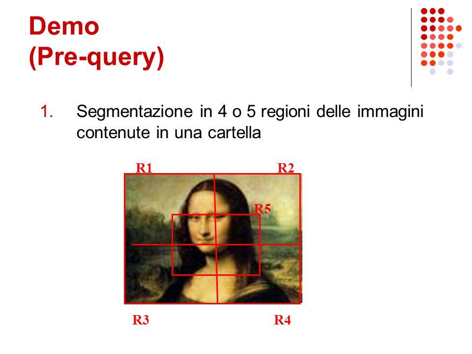 Conclusioni Metodo efficiente Il primo step scarta fino al 99.5 % delle immagini totali Contains e part-of spesso non sono efficaci Dipende dalle penalità Dipende dalla segmentazione