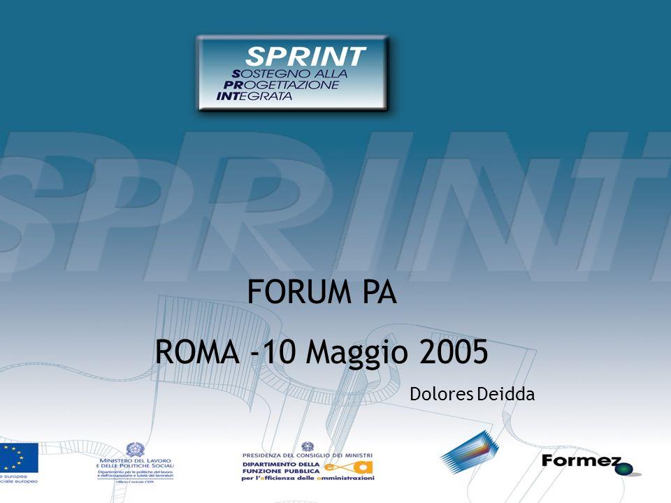 FORUM PA ROMA -10 Maggio 2005 Dolores Deidda