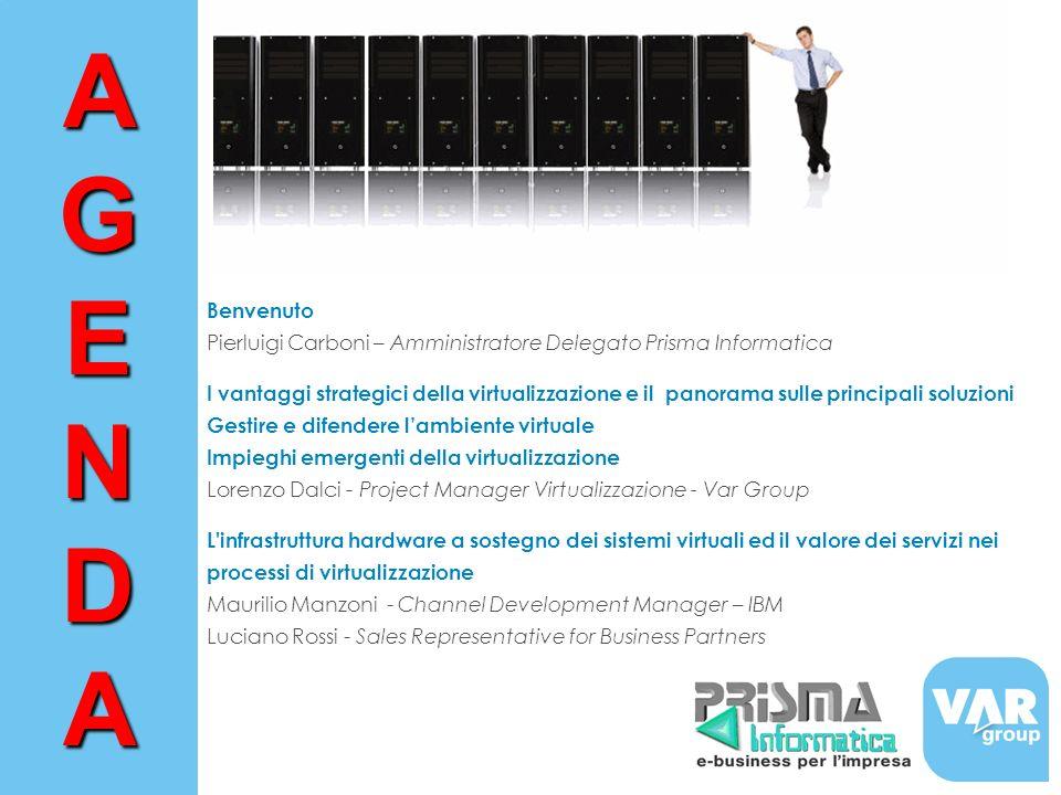 Benvenuto Pierluigi Carboni – Amministratore Delegato Prisma Informatica I vantaggi strategici della virtualizzazione e il panorama sulle principali s