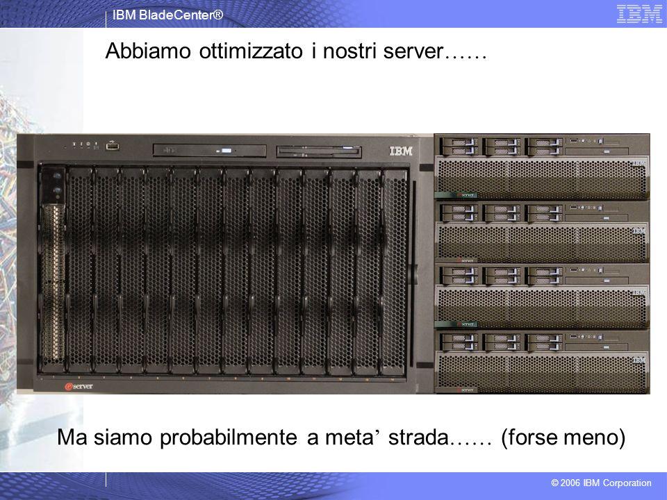 IBM BladeCenter® © 2006 IBM Corporation Ma siamo probabilmente a meta strada …… (forse meno) Abbiamo ottimizzato i nostri server ……