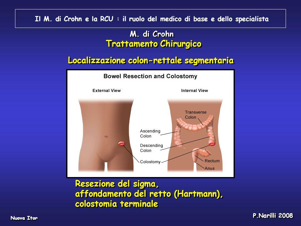 Il M. di Crohn e la RCU : il ruolo del medico di base e dello specialista Nuova Itor P.Narilli 2008 Resezione del sigma, affondamento del retto (Hartm