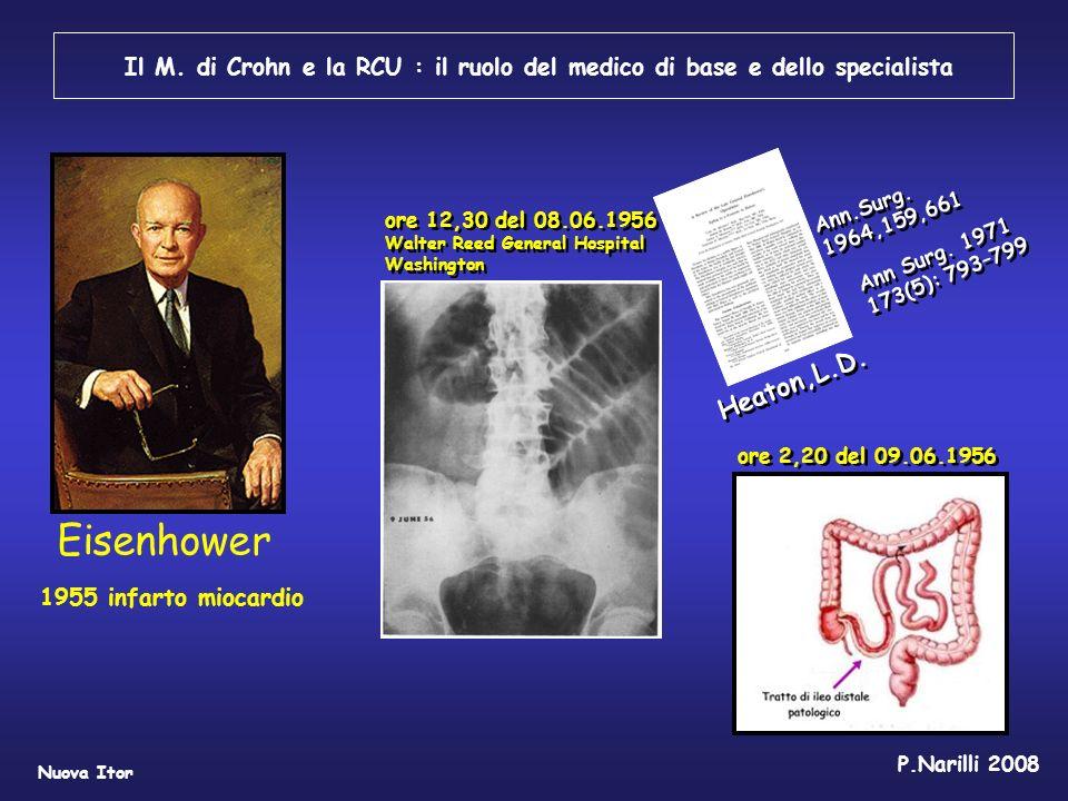 Il M. di Crohn e la RCU : il ruolo del medico di base e dello specialista Nuova Itor P.Narilli 2008 Eisenhower Ann Surg. 1971 173(5): 793–799 1955 inf