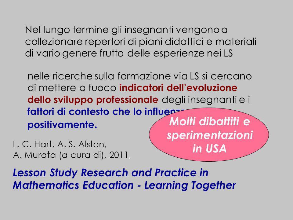 nelle ricerche sulla formazione via LS si cercano di mettere a fuoco indicatori dellevoluzione dello sviluppo professionale degli insegnanti e i fatto