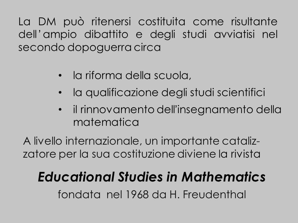 La DM può ritenersi costituita come risultante dellampio dibattito e degli studi avviatisi nel secondo dopoguerra circa la riforma della scuola, la qu