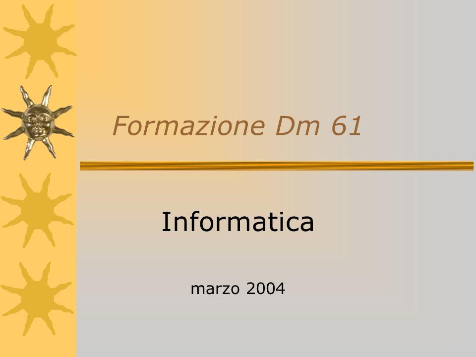 Formazione Dm 61 Informatica marzo 2004