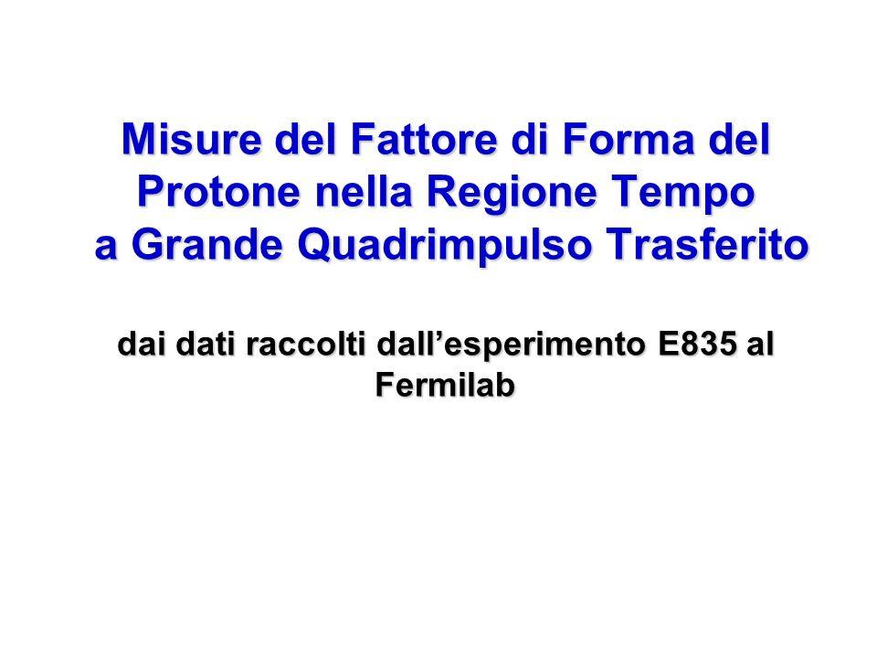 Misure del Fattore di Forma del Protone nella Regione Tempo a Grande Quadrimpulso Trasferito dai dati raccolti dallesperimento E835 al Fermilab