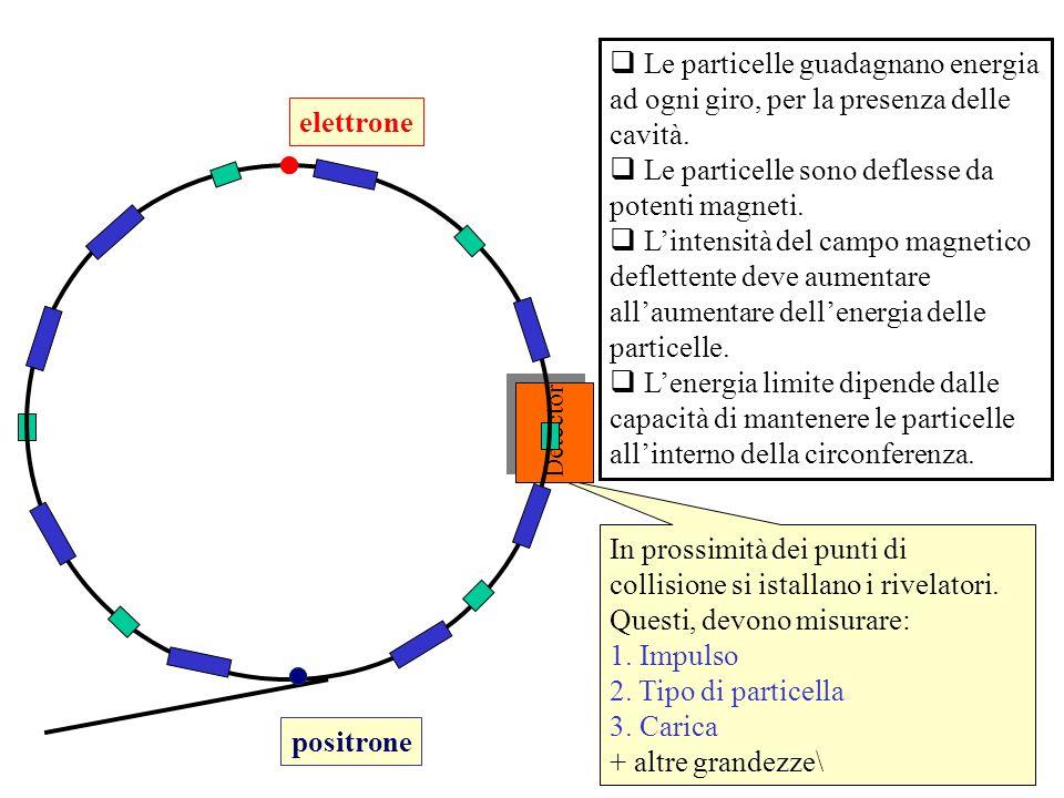 112 Le particelle guadagnano energia ad ogni giro, per la presenza delle cavità. Le particelle sono deflesse da potenti magneti. Lintensità del campo