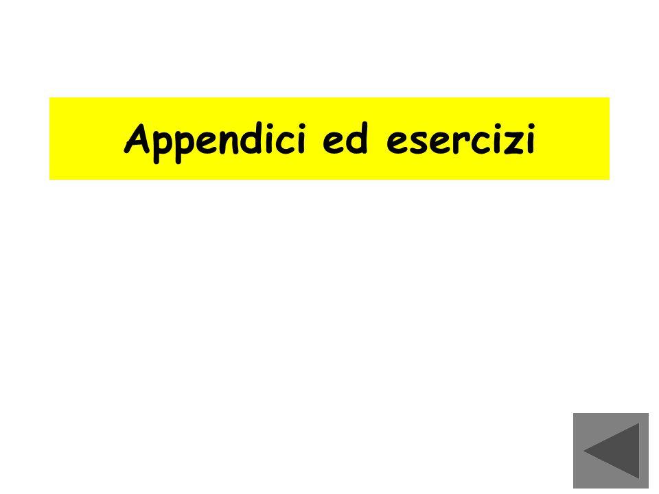 139 Appendici ed esercizi