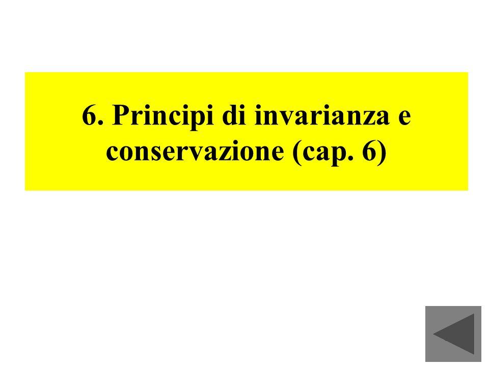 74 6. Principi di invarianza e conservazione (cap. 6)