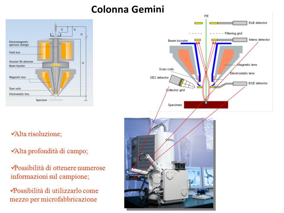 Colonna Gemini Alta risoluzione; Alta risoluzione; Alta profondità di campo; Alta profondità di campo; Possibilità di ottenere numerose informazioni s