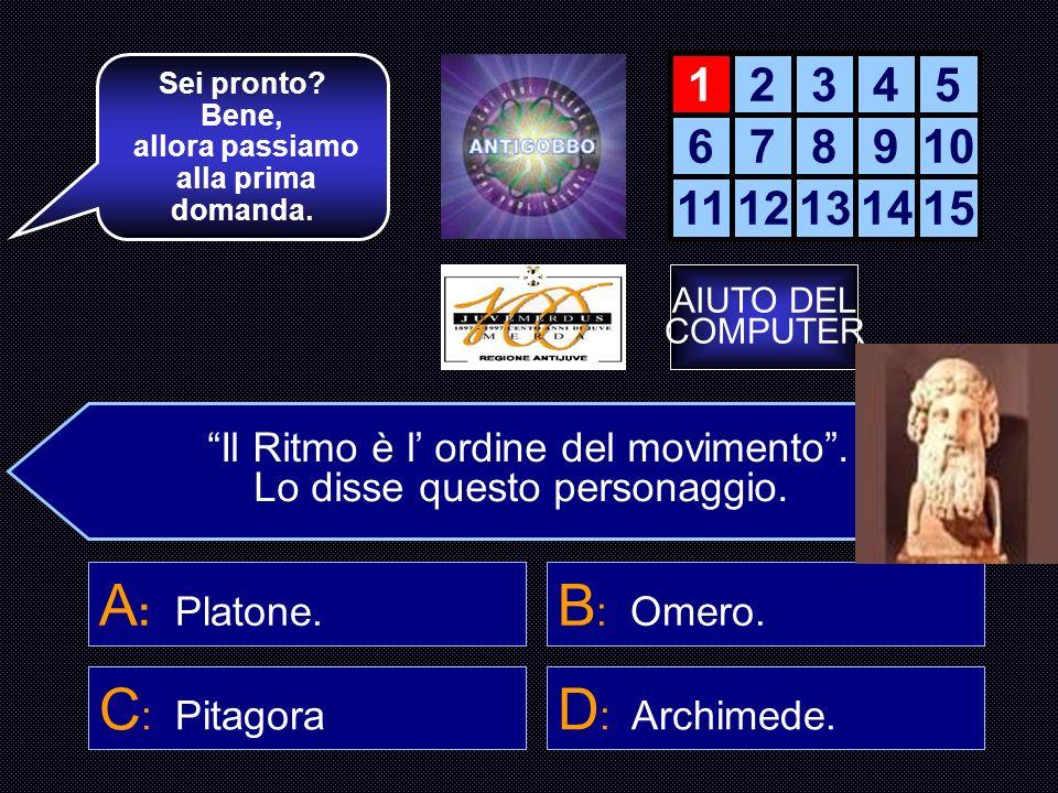 REGOLAMENTO E ISTRUZIONI Questo gioco è un quiz in cui dovrai rispondere a 15 domande sul ritmo musicale. Per ogni domanda avrai quattro possibili ris