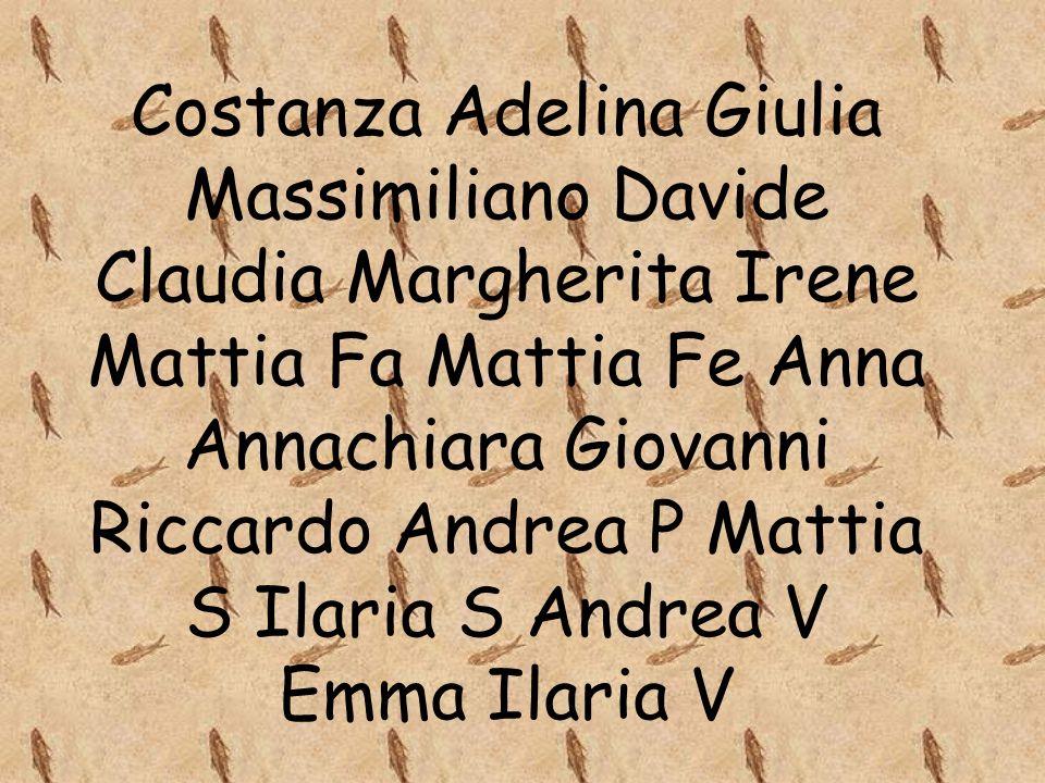 Costanza Adelina Giulia Massimiliano Davide Claudia Margherita Irene Mattia Fa Mattia Fe Anna Annachiara Giovanni Riccardo Andrea P Mattia S Ilaria S