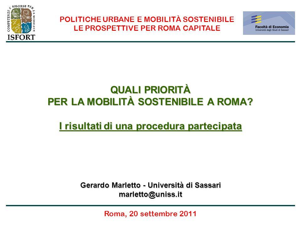 Quali priorità per la mobilità sostenibile a Roma.