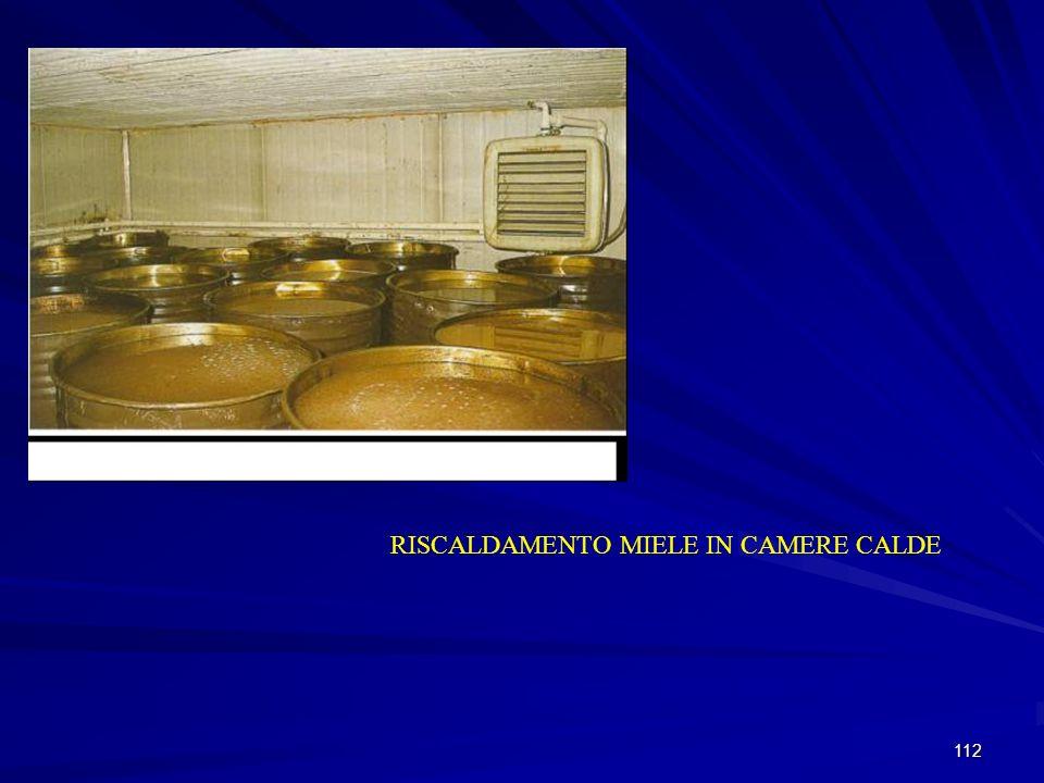 112 RISCALDAMENTO MIELE IN CAMERE CALDE