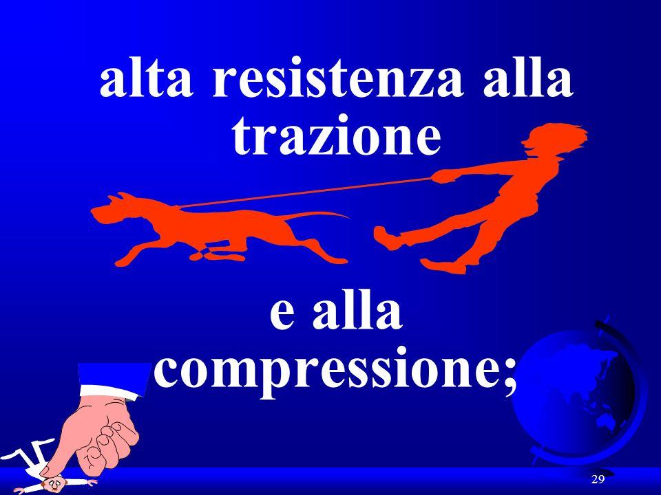 29 alta resistenza alla trazione e alla compressione;