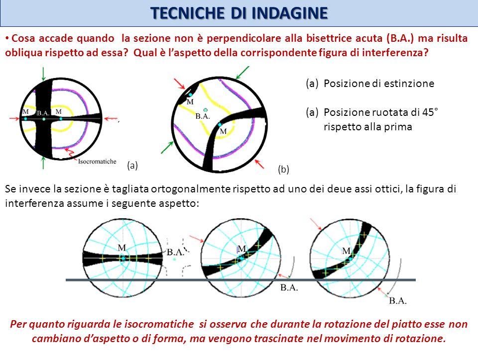 TECNICHE DI INDAGINE Per quanto riguarda le isocromatiche si osserva che durante la rotazione del piatto esse non cambiano daspetto o di forma, ma ven