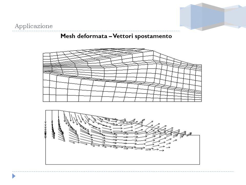 Applicazione Mesh deformata – Vettori spostamento