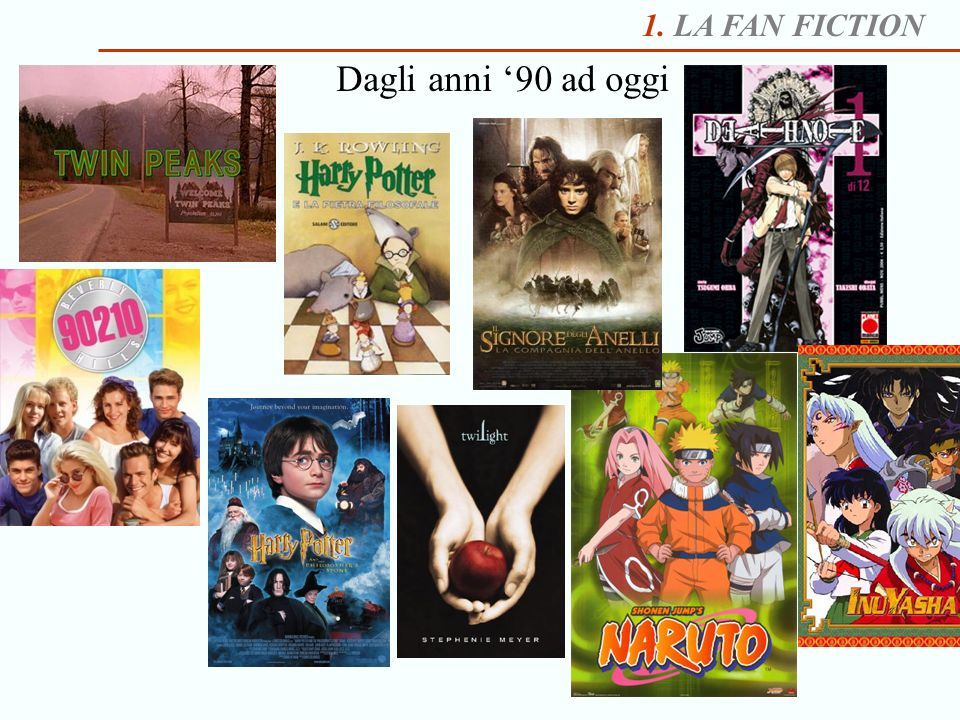 1. LA FAN FICTION Gli archivi di fan fiction