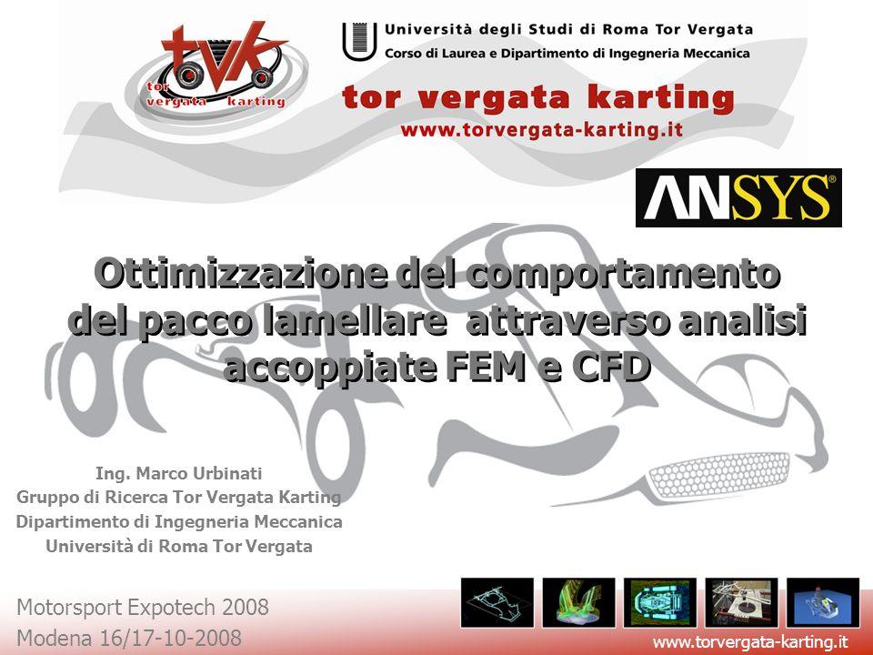 www.torvergata-karting.it Motorsport Expotech 2008 Modena 16/17-10-2008 Ottimizzazione del comportamento del pacco lamellare attraverso analisi accopp