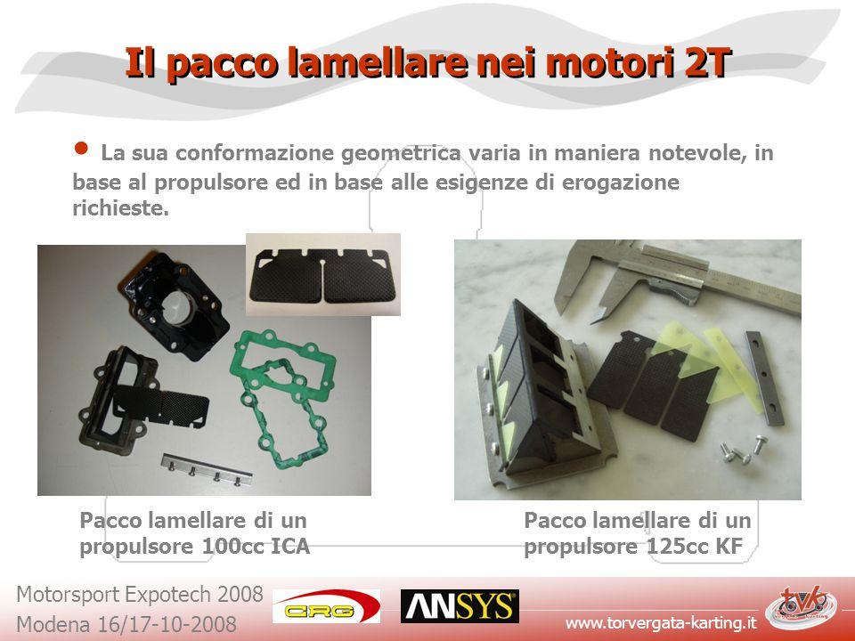 www.torvergata-karting.it Motorsport Expotech 2008 Modena 16/17-10-2008 Il pacco lamellare nei motori 2T La sua conformazione geometrica varia in mani
