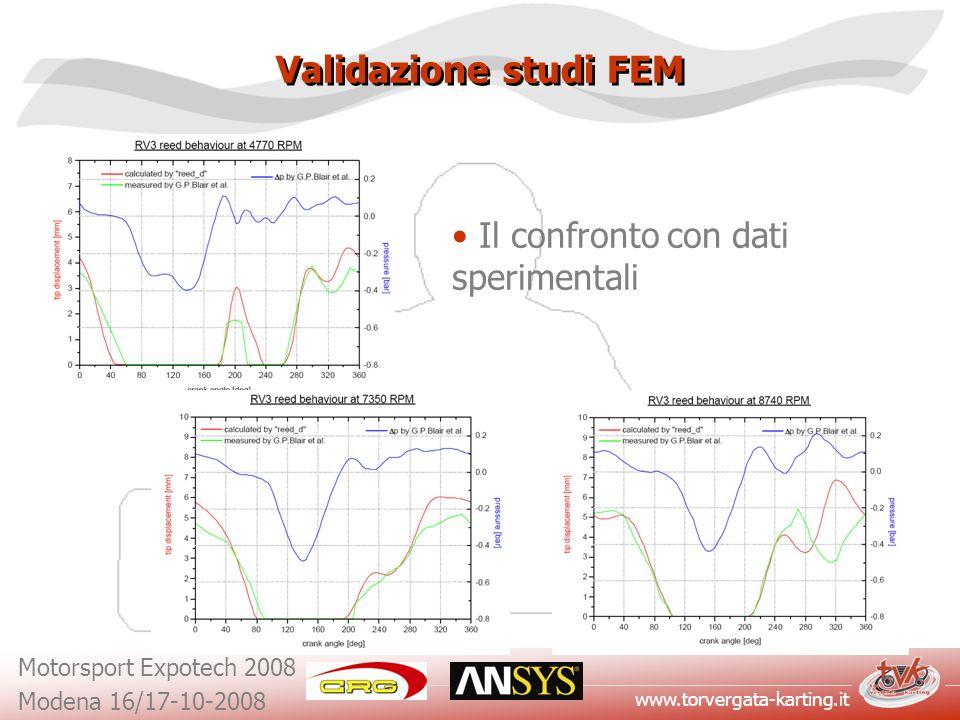 www.torvergata-karting.it Motorsport Expotech 2008 Modena 16/17-10-2008 Validazione studi FEM Il confronto con dati sperimentali