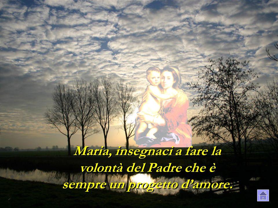 Maria, insegnaci a fare la volontà del Padre che è sempre un progetto damore.