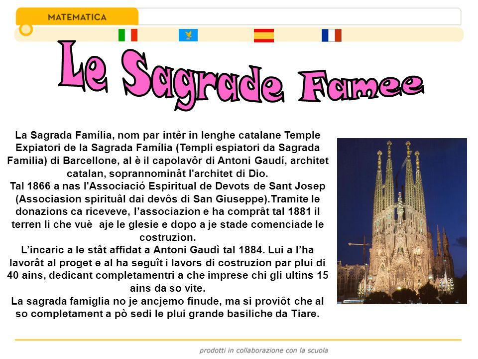 La Sagrada Família, nom par intêr in lenghe catalane Temple Expiatori de la Sagrada Família (Templi espiatori da Sagrada Familia) di Barcellone, al è