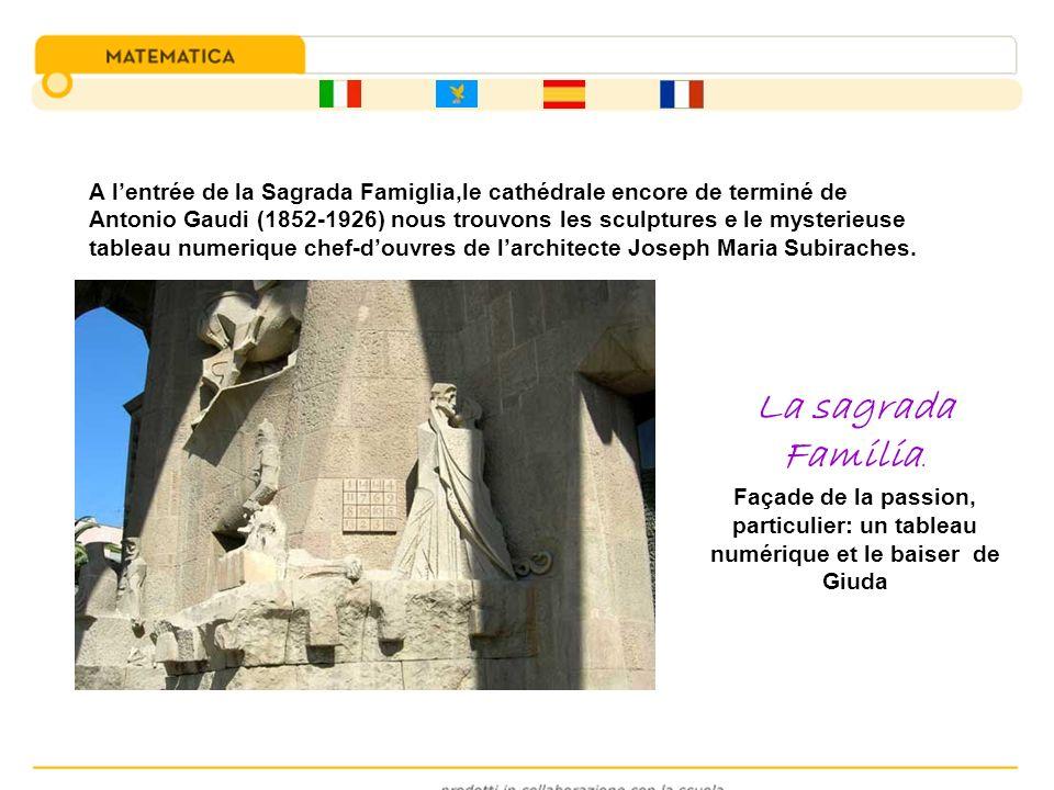 A lentrée de la Sagrada Famiglia,le cathédrale encore de terminé de Antonio Gaudi (1852-1926) nous trouvons les sculptures e le mysterieuse tableau nu