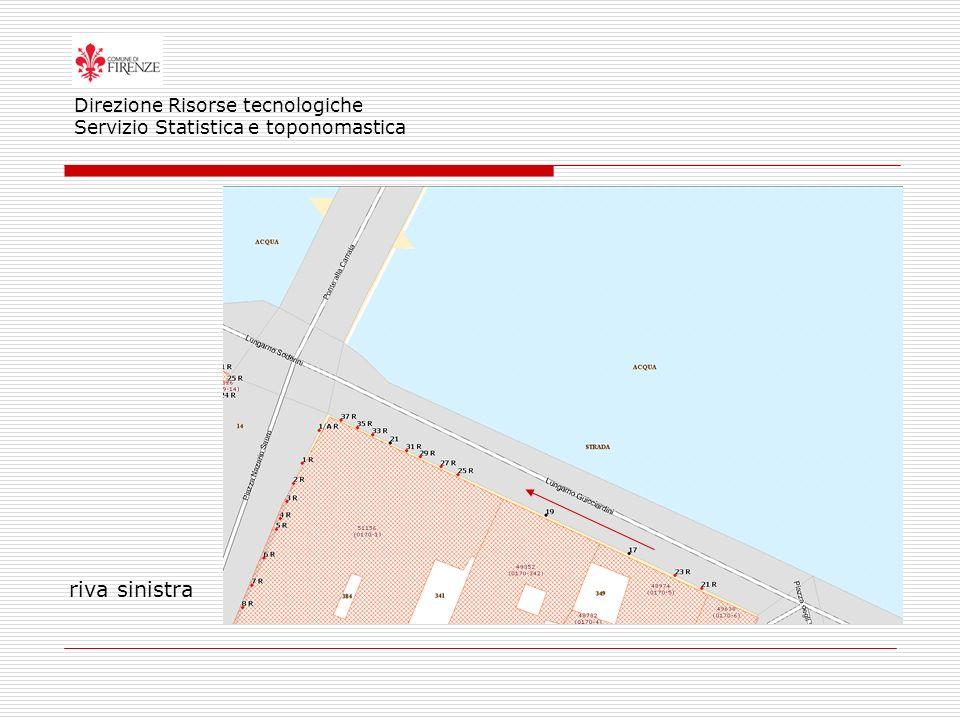 riva sinistra Direzione Risorse tecnologiche Servizio Statistica e toponomastica