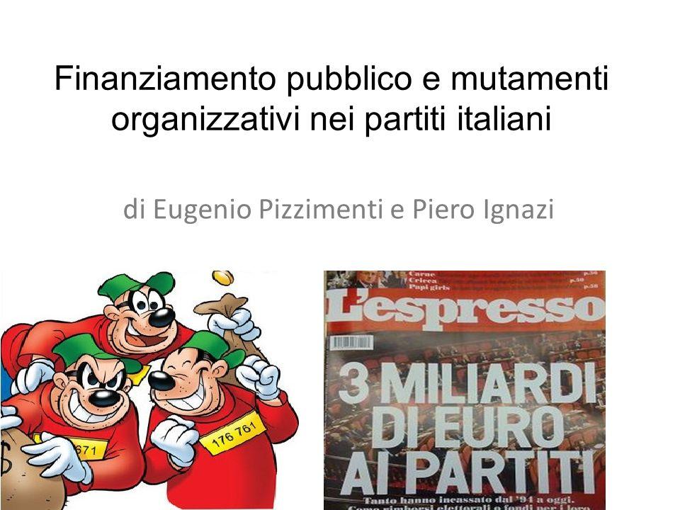 Finanziamento pubblico e mutamenti organizzativi nei partiti italiani di Eugenio Pizzimenti e Piero Ignazi