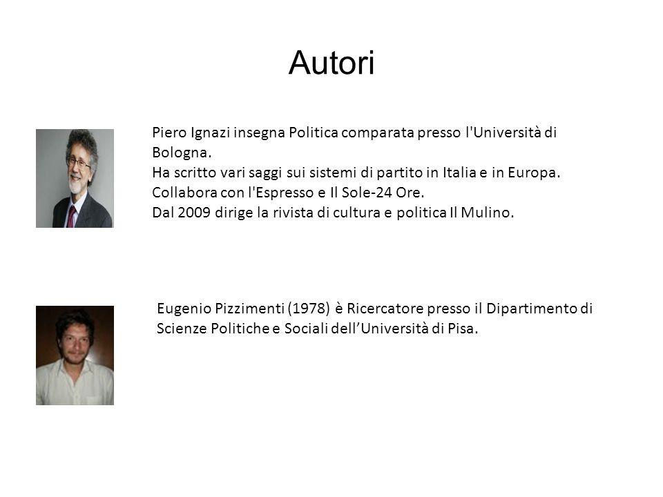 Autori Piero Ignazi insegna Politica comparata presso l'Università di Bologna. Ha scritto vari saggi sui sistemi di partito in Italia e in Europa. Col