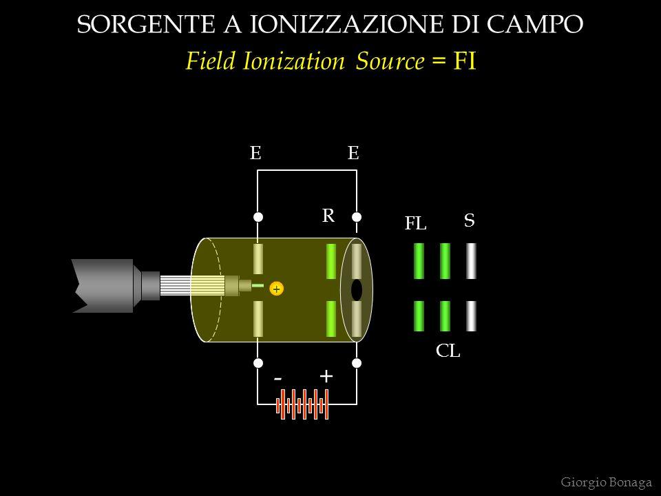 SORGENTE A IONIZZAZIONE DI CAMPO Field Ionization Source = FI + S FL CL R EE +- Giorgio Bonaga