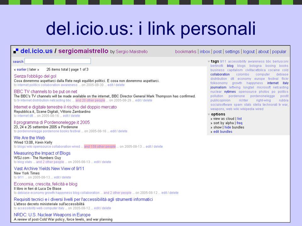 del.icio.us: i link personali