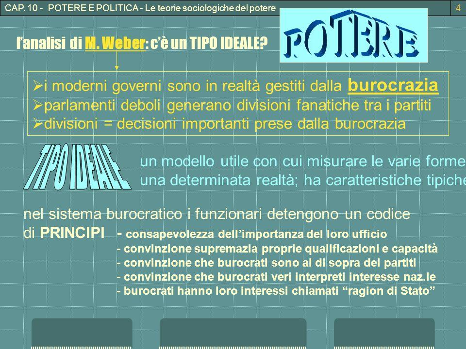 CAP.10 - POTERE E POLITICA - Le teorie sociologiche del potere5 lanalisi di M.