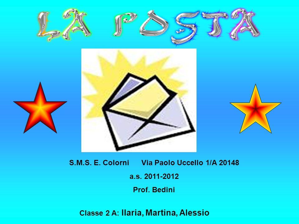 Classe 2 A: Ilaria, Martina, Alessio S.M.S. E. Colorni Via Paolo Uccello 1/A 20148 a.s.