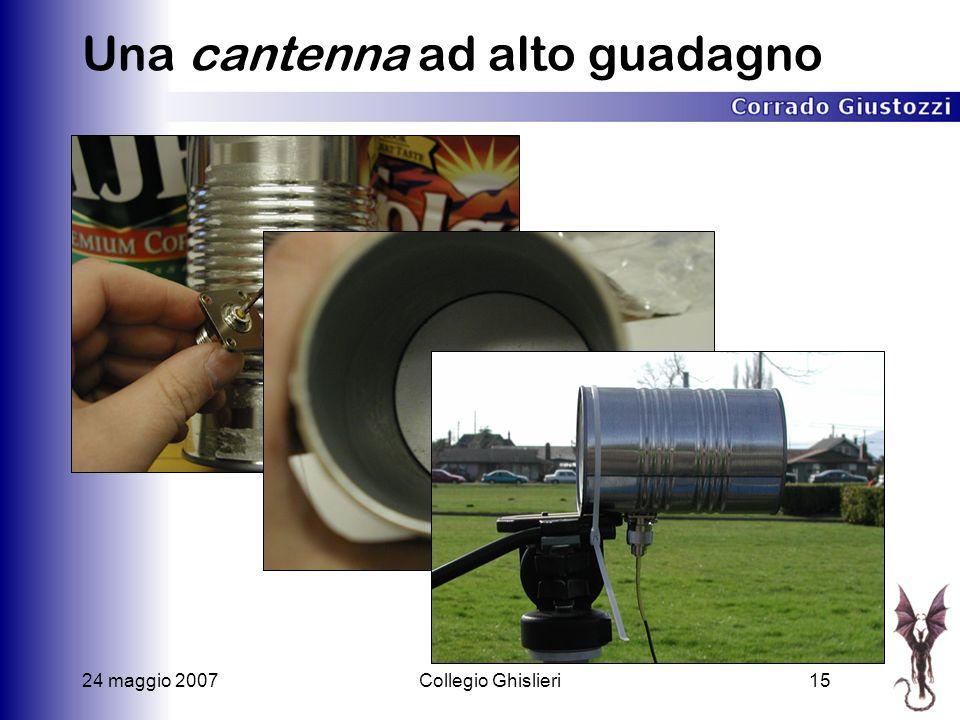 24 maggio 2007Collegio Ghislieri15 Una cantenna ad alto guadagno