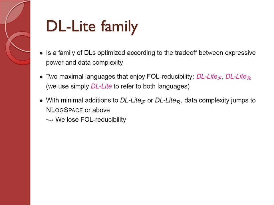 DL-Lite family