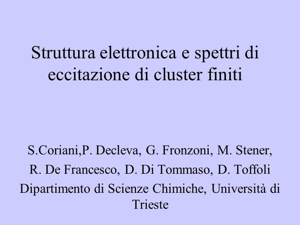Struttura elettronica e spettri di eccitazione di cluster finiti S.Coriani,P.