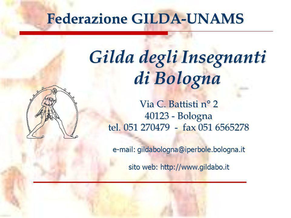 Piattaforma contrattuale della Gilda degli Insegnanti ******* Le 13 proposte per il rinnovo del contratto 2006-2009 Gilda degli Insegnanti di Bologna