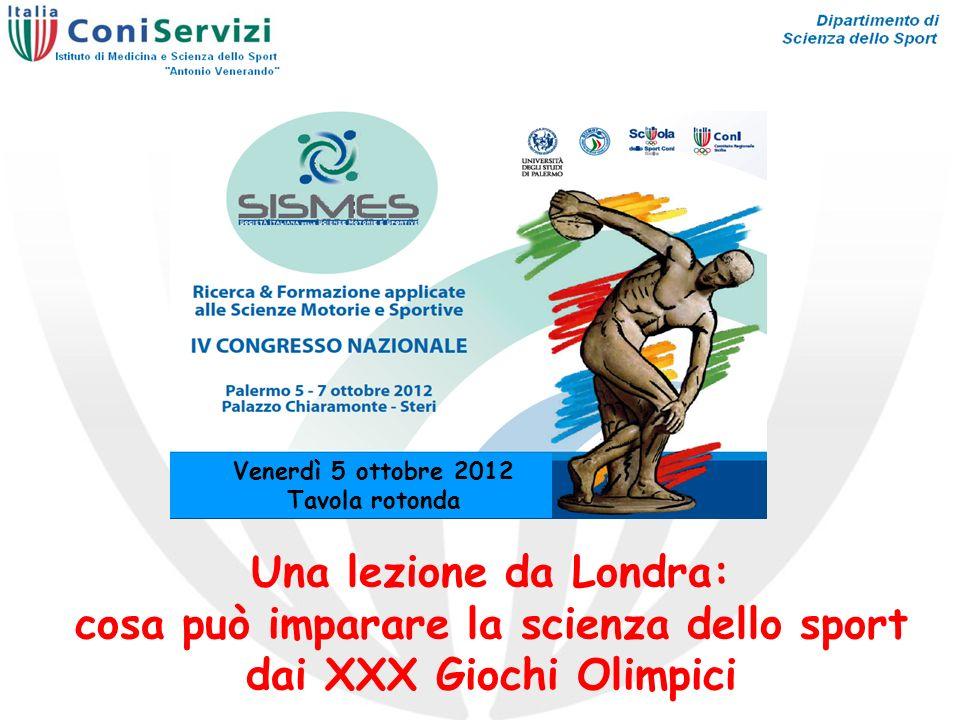 Venerdì 5 ottobre 2012 Tavola rotonda Una lezione da Londra: cosa può imparare la scienza dello sport dai XXX Giochi Olimpici