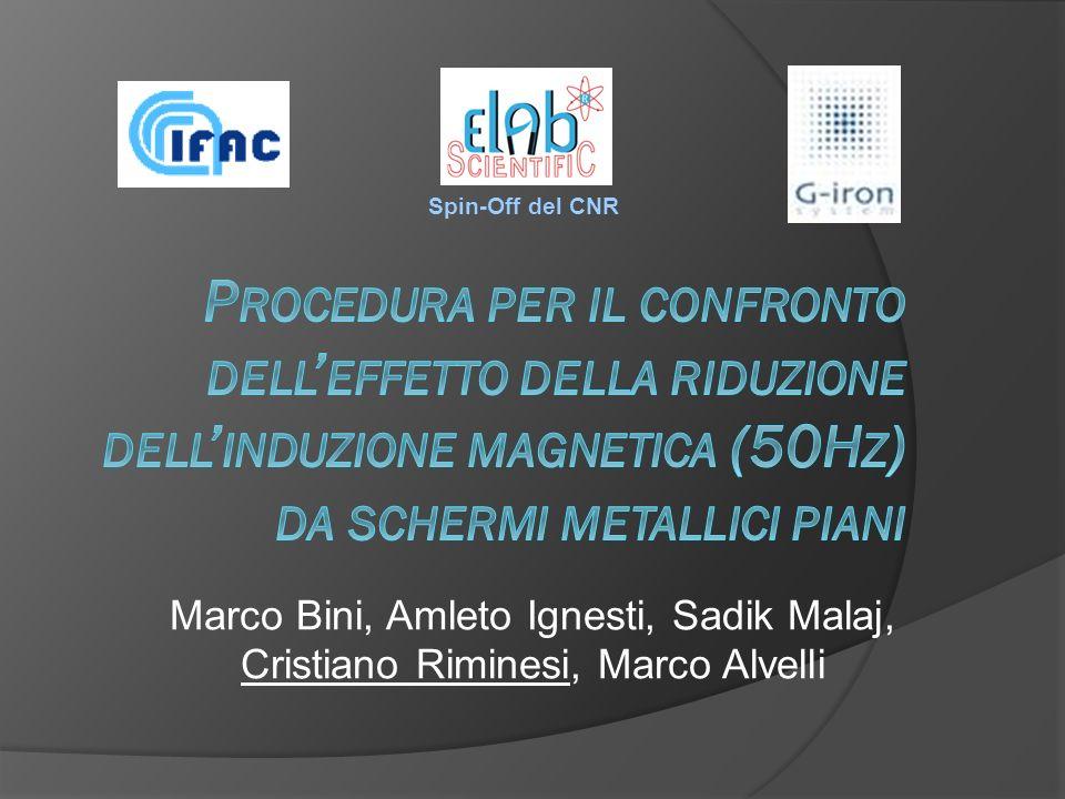 Spin-Off del CNR Marco Bini, Amleto Ignesti, Sadik Malaj, Cristiano Riminesi, Marco Alvelli