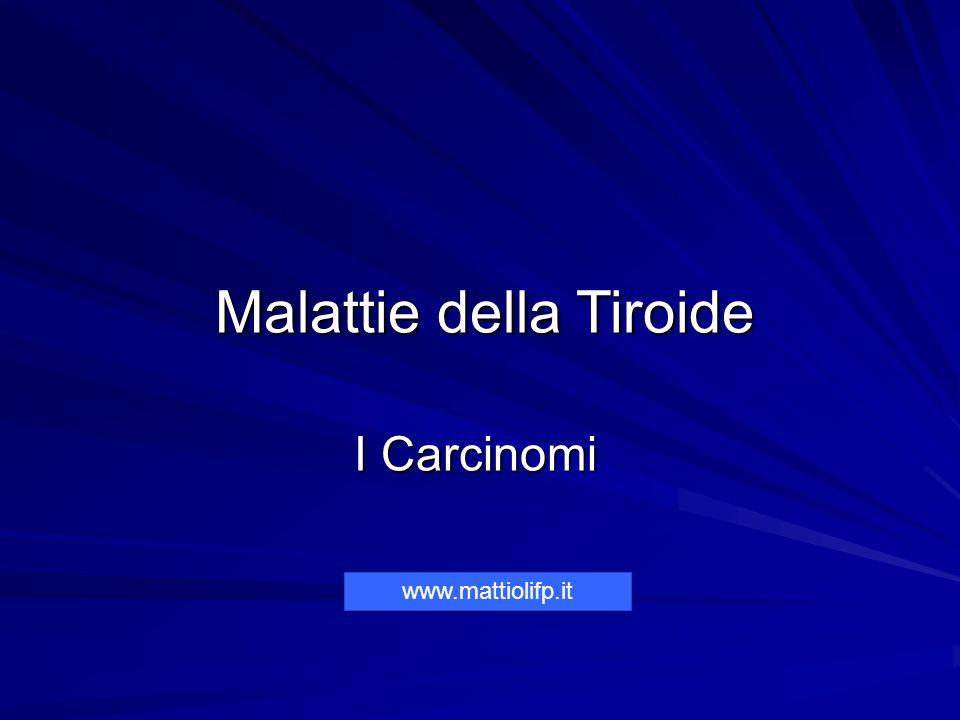 Malattie della Tiroide I Carcinomi Malattie della Tiroide I Carcinomi www.mattiolifp.it