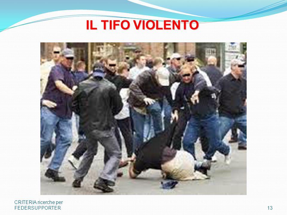 CRITERIA ricerche per FEDERSUPPORTER13 IL TIFO VIOLENTO