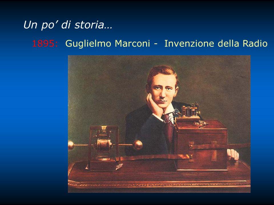 Un po di storia… 1895: Guglielmo Marconi - Invenzione della Radio
