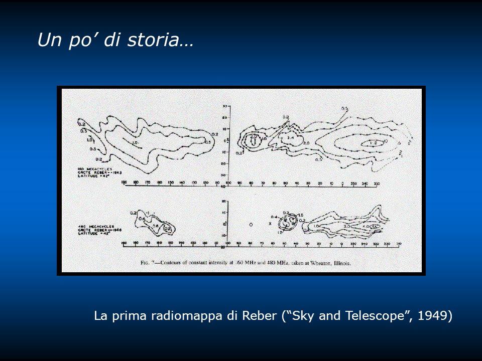 Un po di storia… La prima radiomappa di Reber (Sky and Telescope, 1949)