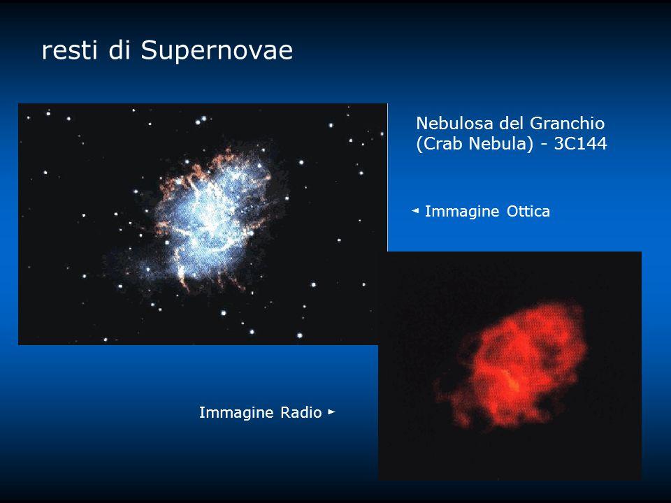 resti di Supernovae Nebulosa del Granchio (Crab Nebula) - 3C144 Immagine Radio Immagine Ottica
